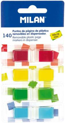 "Index ""Standard"" 35 tabs per kleur, 4 kleuren, 45x12mm (Blister)"