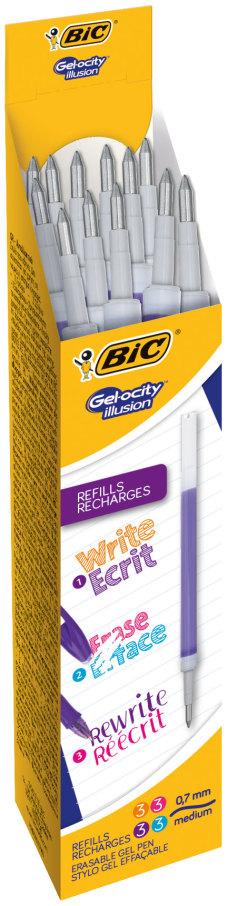 BIC REFILL Gel-Ocity Illusion FUN /12