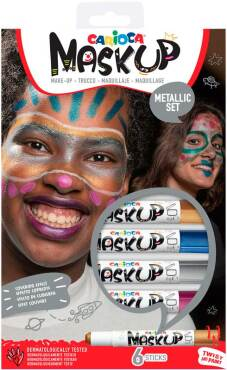 "Kindergrime ""Mask Up"" set van 6 sticks, dermatologisch getest - Metallic"