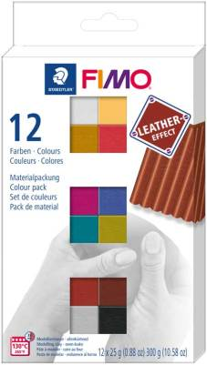 "Boetseerklei ""Leather-Effect"" 12x 25g - Colour Pack"