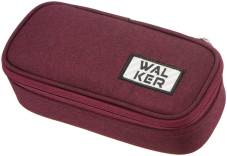 "Trousse plumier ""Box Concept"" 21x10x6cm, 600D Polyester - Dark Red"