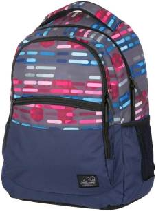 "Rugtas ""Base Classic"" 32x45x21cm, 30l, 600D Polyester - Lines Blue Pink"