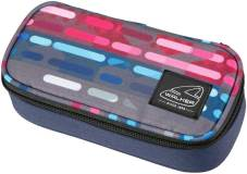 "Pennendoos ""Box Classic"" 21x10x6cm, 600D Polyester - Lines Blue Pink"