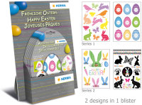 "Display ""Easter Decals"" met 20 blisters, doordruk met 2 designs per blister"