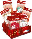 "Display ""Gift Tags"" met 60 blisters - 6 verschillende referenties"