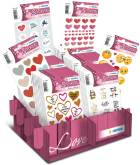 "Display ""Love"" met 80 blisters - 6 verschillende referenties"
