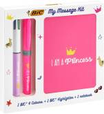 "Messages Kit ""Princess"" 1x 4-kleuren balpen + 1x overlijner + 1x notebook"