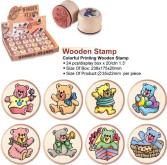 "Stempel in hout rond ""Beertjes"" 22 x 33 mm"