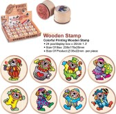 "Stempel in hout ""Clowns"" 88 x 33 mm"