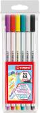 "Penseelstift ""Pen 68 Brush"" set van 6 stuks - Assortie (Blister)"