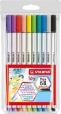 "Penseelstift ""Pen 68 Brush"" set van 10 stuks - Assortie (Blister)"
