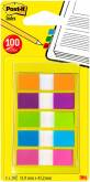 "Index ""Smal"" 20 tabs per kleur, 5 kleuren per set - 11.9x43.2mm (Blister)"