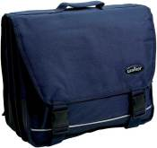 Cartable 29.5x37.5x15cm, 2 compartiments - Bleu